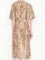 Платье из смешанного шелка с узором Rochas  –  МодельВерхНиз1