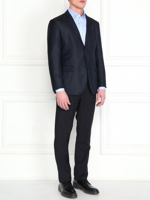 Пиджак из шерсти и шелка - Модель Общий вид