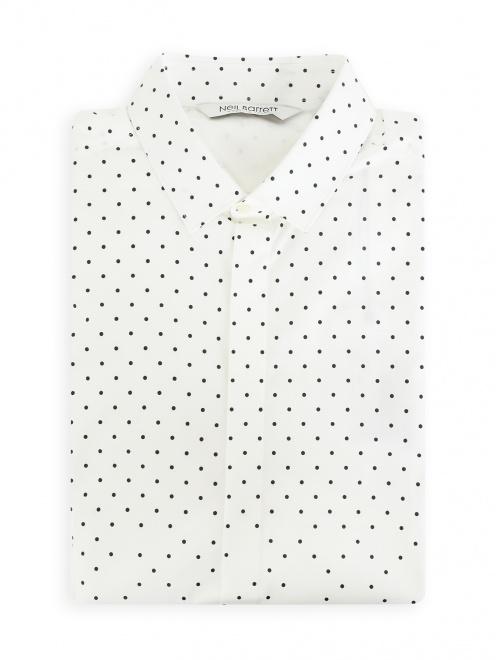 Рубашка из хлопка с короткими рукавами - Общий вид