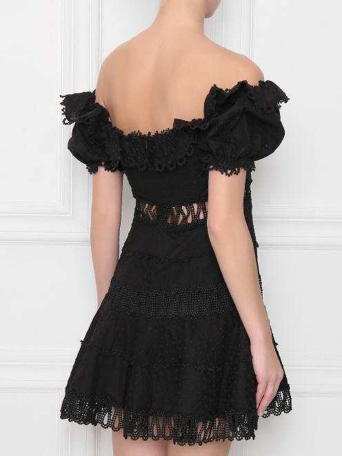 Платье из хлопка, с отделкой кружевом - МодельВерхНиз1