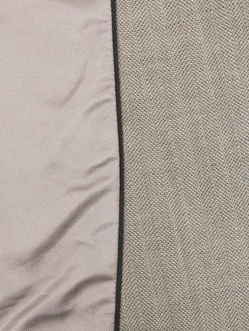 Однобортный жакет из шерсти с узором - Деталь2