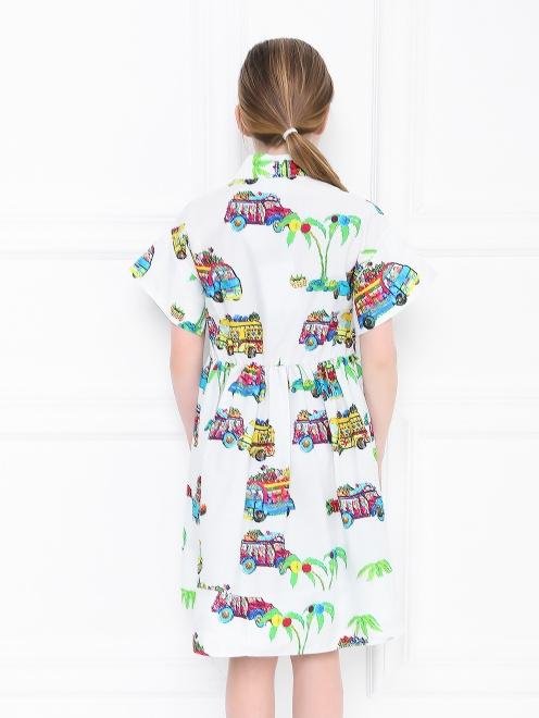 Платье-рубашка с узором - МодельВерхНиз1