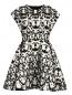 Платье-мини с анималистичным узором Giambattista Valli  –  Общий вид