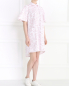 Платье-мини с коротким рукавом Petit Jete  –  Модель Общий вид