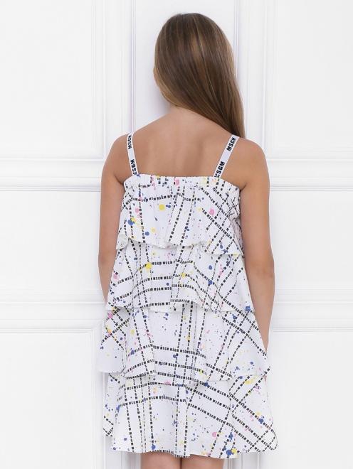 Платье ярусное из хлопка - МодельВерхНиз1