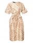 Платье из смешанного шелка с узором Rochas  –  Общий вид