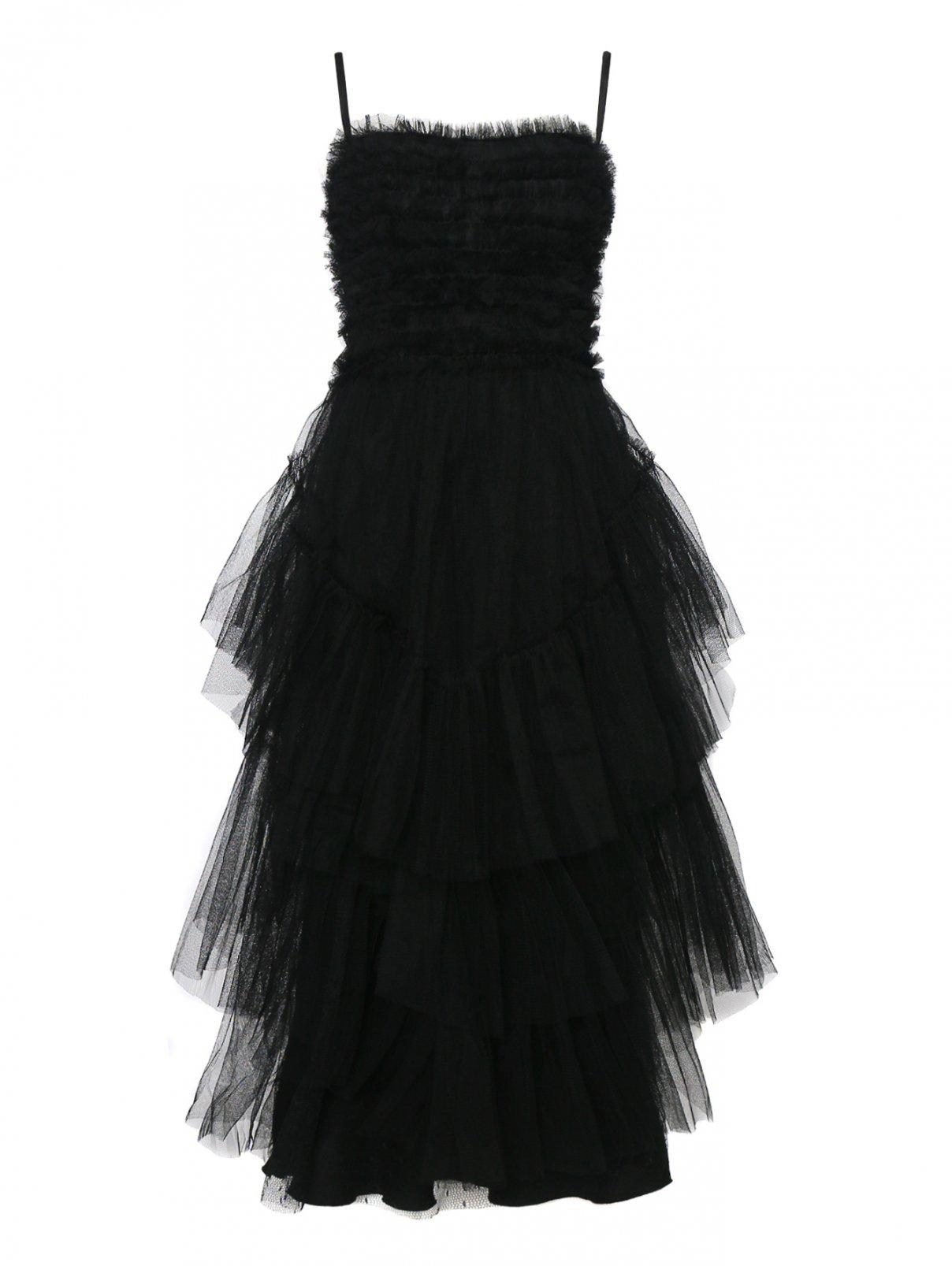 Платье из фатина с воланами с эластичной вставкой сзади Red Valentino  –  Общий вид