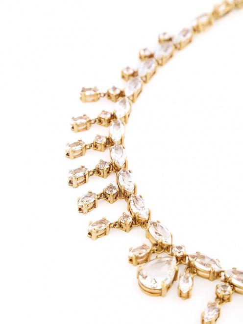 Ожерелье из металла декорированное кристаллами - Деталь