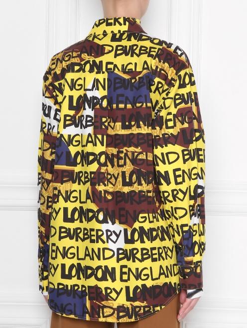 Рубашка хлопковая с буквенным узором - МодельВерхНиз1
