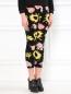 Трикотажные брюки из шерсти с цветочным узором Moschino Cheap&Chic  –  Модель Верх-Низ