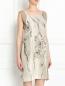 Платье из шелка с цветочным узором Alberta Ferretti  –  Модель Верх-Низ
