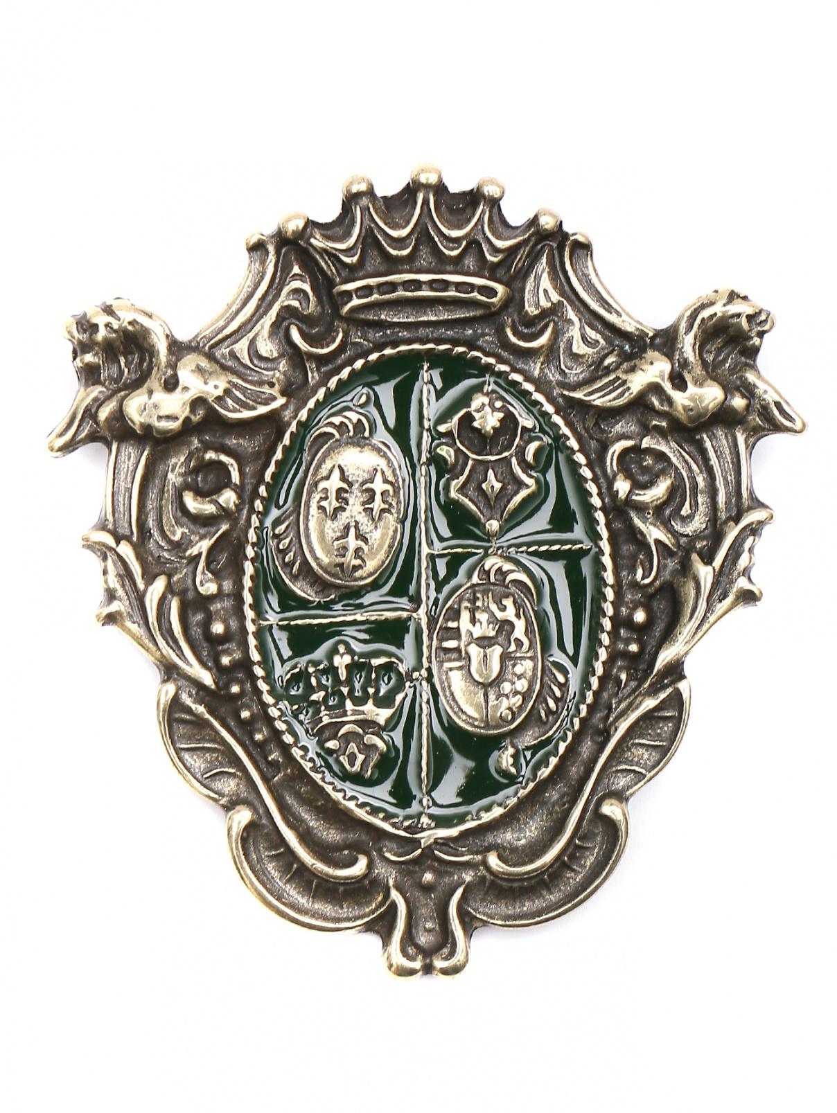 Брошь из металла Etro  –  Общий вид  – Цвет:  Золотой