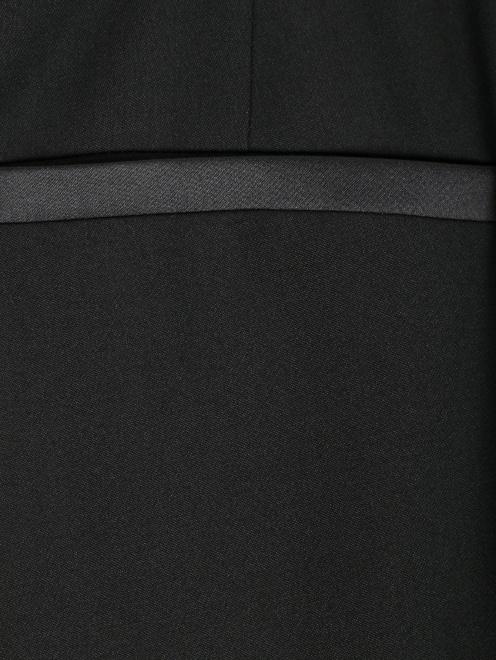 Брюки укороченные, из шерсти, с декором по поясу - Деталь