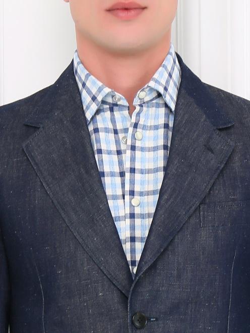 Пиджак однобортный из денима - Модель Общий вид1