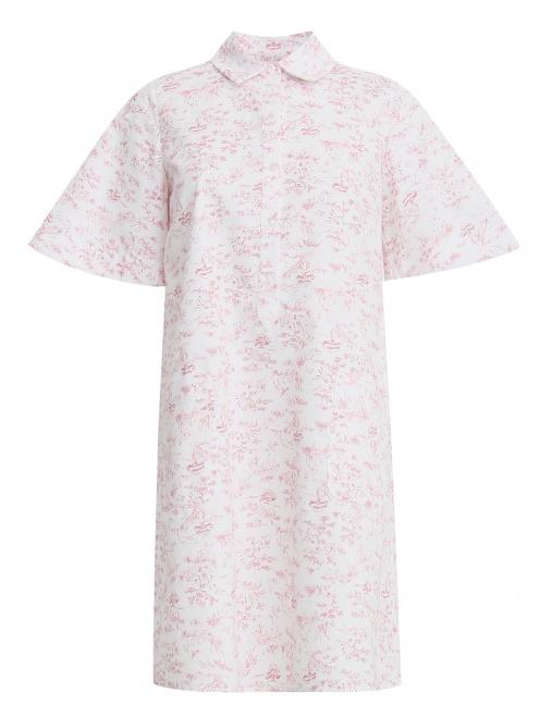 Платье-мини с коротким рукавом - Общий вид
