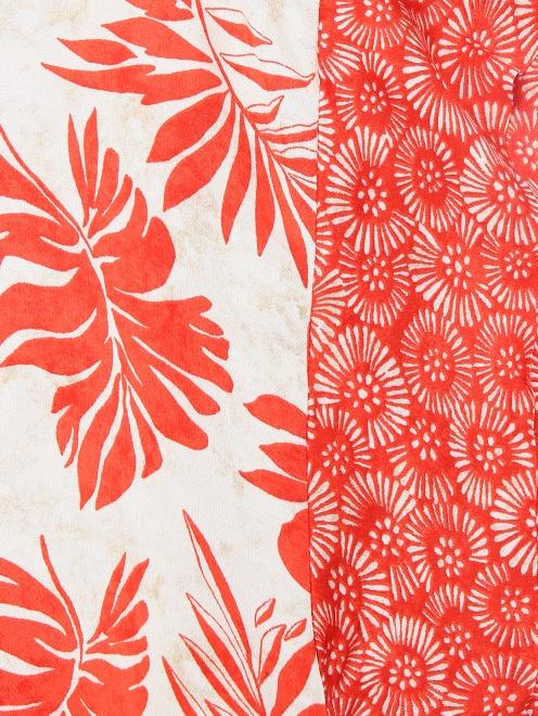 Блуза из ткани с принтом - Деталь1