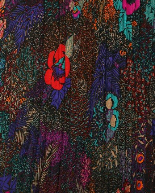 Юбка-плиссе с цветочным узором - Деталь1