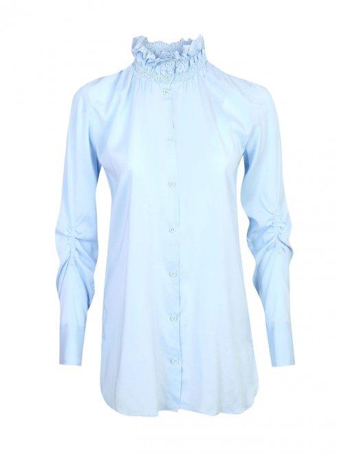 Блуза из шелка со сборкой - Общий вид