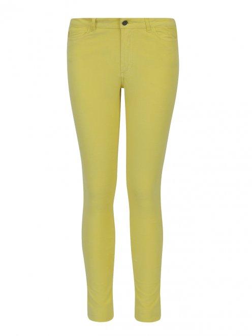 Зауженные брюки из микровельвета - Общий вид