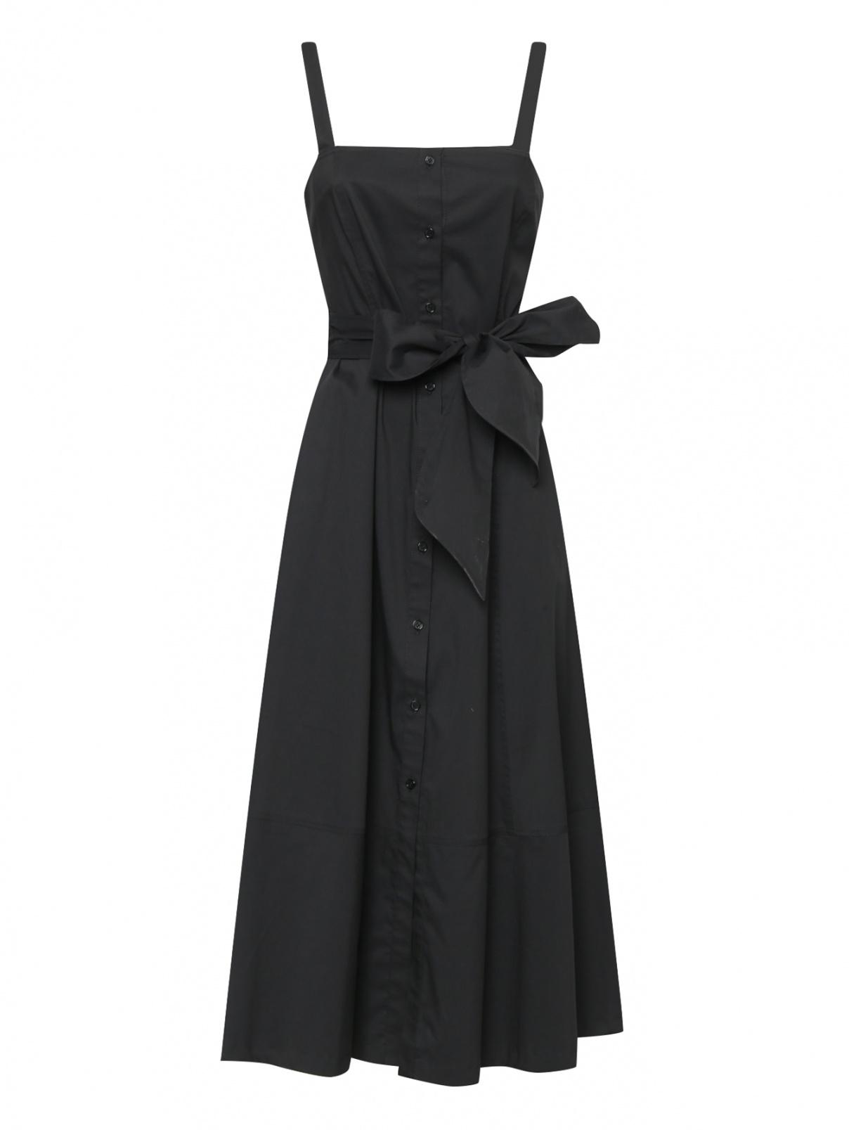 Платье из хлопка без рукавов Ли-Лу шоп  –  Общий вид
