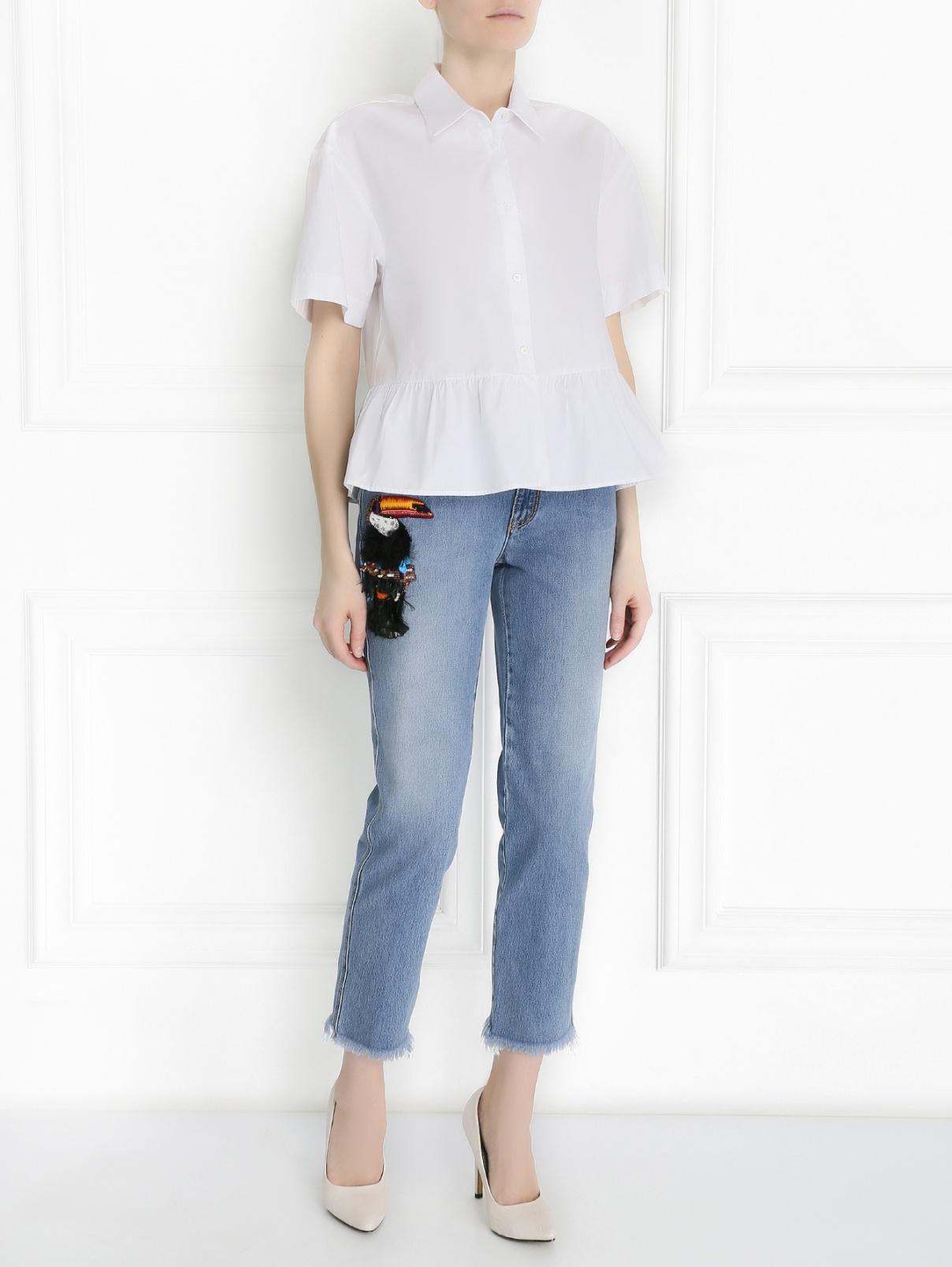 Рубашка из хлопка с коротким рукавом I'M Isola Marras  –  Модель Общий вид  – Цвет:  Белый