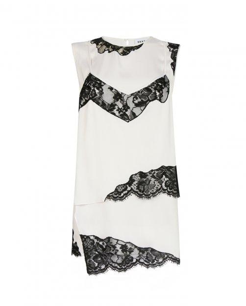 Блуза из шелка с кружевной отделкой - Общий вид