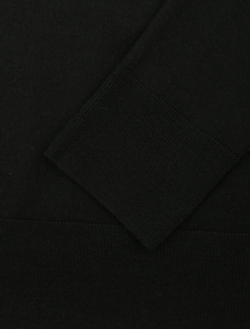 Водолазка из шерсти, с разрезами - Деталь1