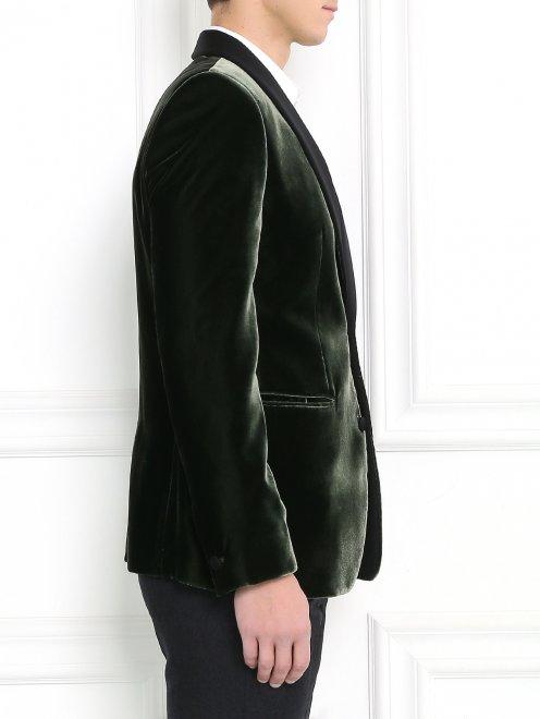 Однобортный вельветовый пиджак - Модель Верх-Низ2