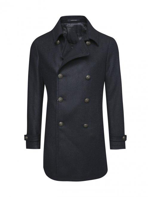 Пальто двубортное из шерсти - Общий вид