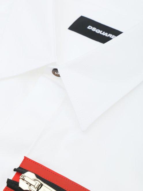 Рубашка из хлопка с принтом - Деталь