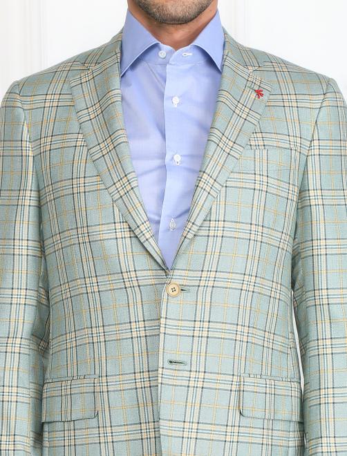 Пиджак из шелка и кашемира с узором - Модель Общий вид1