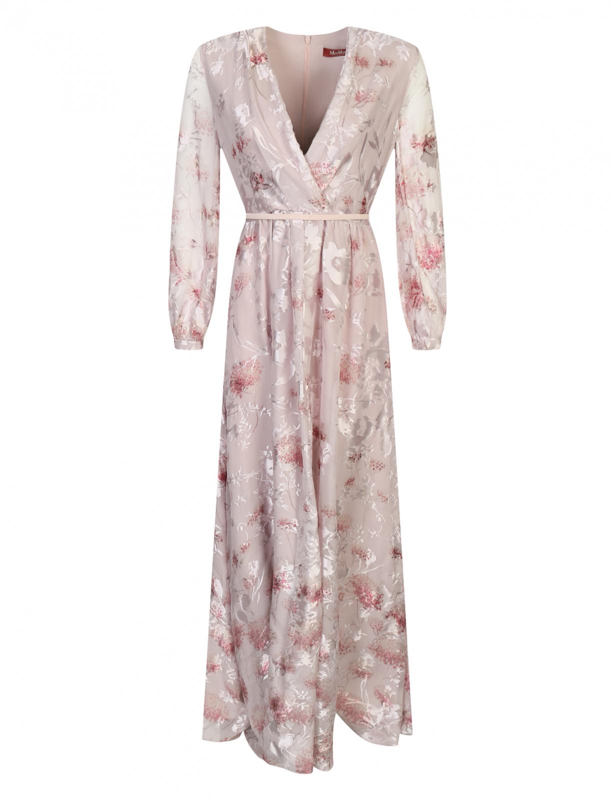 Платье-макси с цветочным узором Max Mara  –  Общий вид