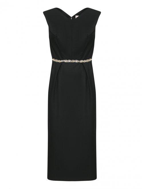 Платье с декором стразами - Общий вид