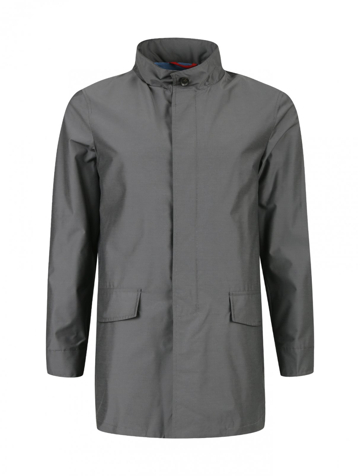 Куртка на молнии Isaia  –  Общий вид  – Цвет:  Серый