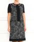 Платье-мини из шерсти с короткими рукавами Alberta Ferretti  –  Модель Верх-Низ