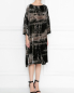 Бархатное платье свободного кроя с узором Antonio Marras  –  МодельВерхНиз