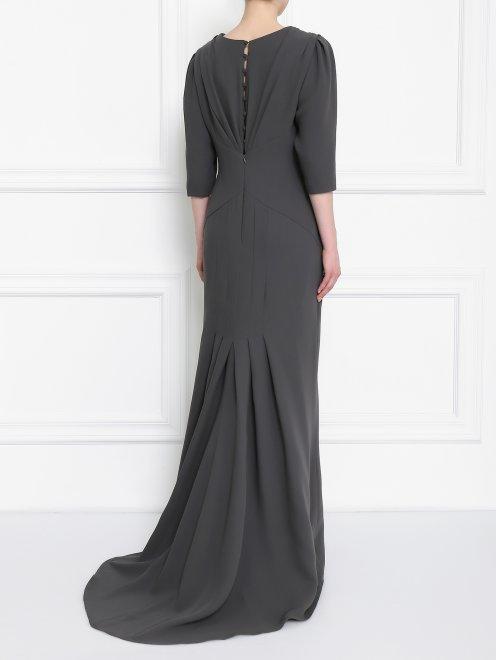 Платье-макси из шелка с драпировкой - Модель Верх-Низ1