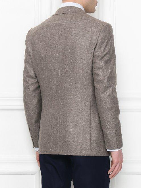 Пиджак из шелка и шерсти - МодельВерхНиз1