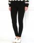 Узкие эластичные брюки с замком на щиколотке Moschino Boutique  –  Модель Верх-Низ