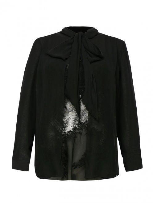 Блуза из шелка с кружевом - Общий вид