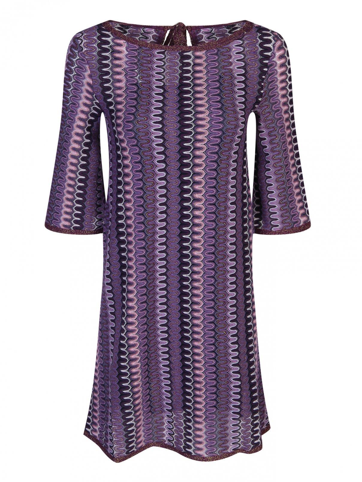 Трикотажное платье с короткими рукавами с узором Max&Co  –  Общий вид