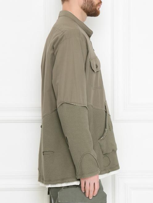 Комбинированная куртка из хлопка - МодельВерхНиз2