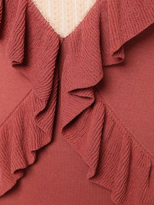 Платье трикотажное из вискозы - Деталь1