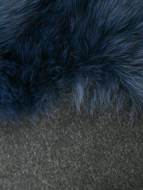 Пальто из шерсти с рукавами 3/4 - Деталь