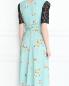 Платье-миди с узором и декоративной отделкой из кружева Antonio Marras  –  МодельВерхНиз1