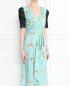 Платье-миди с узором и декоративной отделкой из кружева Antonio Marras  –  МодельВерхНиз