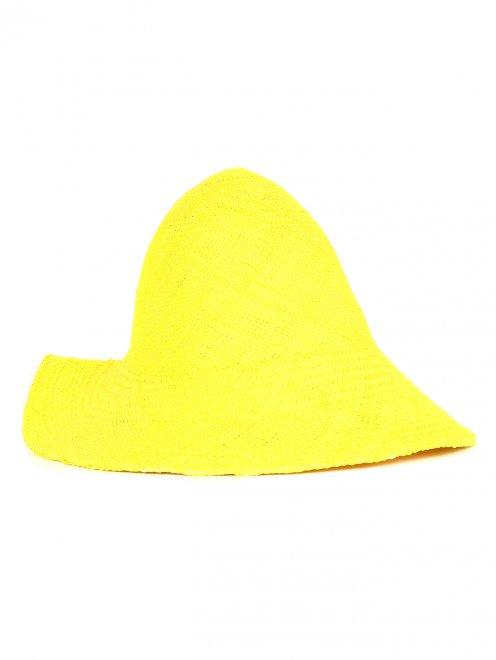 Шляпа из соломы с металлической фурнитурой - Общий вид
