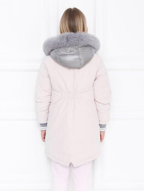 Куртка удлиненная с капюшоном - МодельВерхНиз1