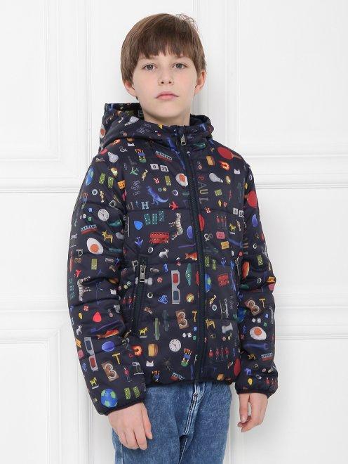 Куртка утепленная с узором - МодельВерхНиз