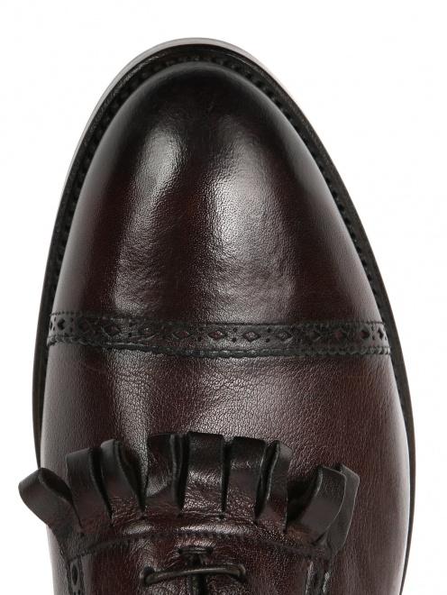 Ботинки из кожи с бахромой  - Обтравка3